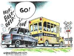 Trump wants schools open by Dave Granlund