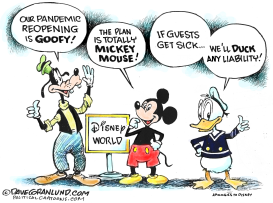 Disney World Reopens amid COVID-19 by Dave Granlund