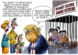Reopening schools puts children at risk by Dave Whamond