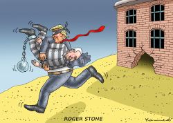Trump Frees Stone by Marian Kamensky
