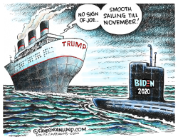Trump vs Biden threat by Dave Granlund