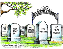 Hindsight headstones by Dave Granlund