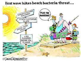 Covid-19 and heat wave by Dave Granlund