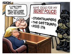 Trump Secret Police by Steve Sack