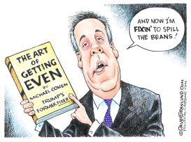 Michael Cohen Tell-All Book by Dave Granlund