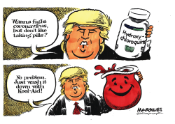 Trump pushes Hydroxychloroquine by Jimmy Margulies