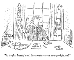 Rescheduling the election by Adam Zyglis