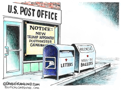 USPS and Mail-in Ballots by Dave Granlund