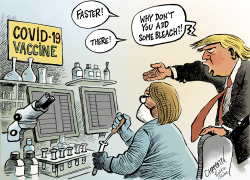Trump meddles in vaccine race by Patrick Chappatte