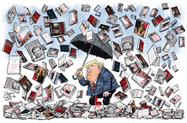 Trump Book Storm by Daryl Cagle