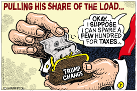 Pulling His Share of the Tax Burden by Monte Wolverton