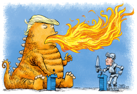 Fiery Debate by Daryl Cagle