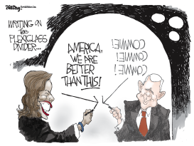 Harris and Pence Debate by Bill Day