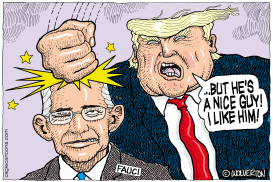 Trump and Fauci by Monte Wolverton