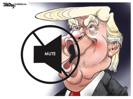 Debate Mute Button by Bill Day