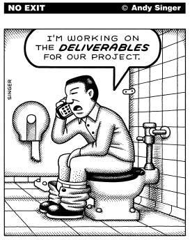 Working on Deliverables by Andy Singer