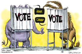 Vote Jerk Creep Repost by Daryl Cagle
