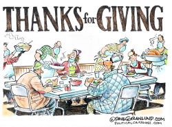 Thanksgiving and Homeless by Dave Granlund