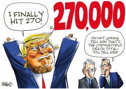 Trump finally hits 270 by Dave Whamond