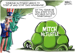 Mitch McConnell won't stop the Trump show by Dave Whamond