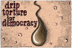 Drip Torture for Democracy by Monte Wolverton