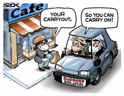 Carry out carry on by Steve Sack