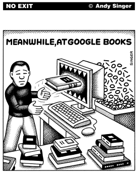 Meanwhile At Google Books by Andy Singer