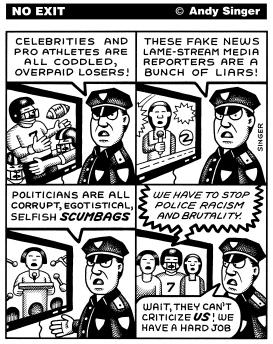 Police Criticism by Andy Singer