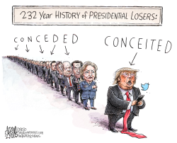 The worst loser by Adam Zyglis