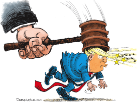 Trump and Court Decision by Daryl Cagle