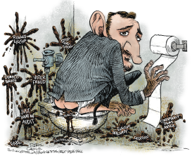 Ted Cruz Monkey Poop  by Daryl Cagle
