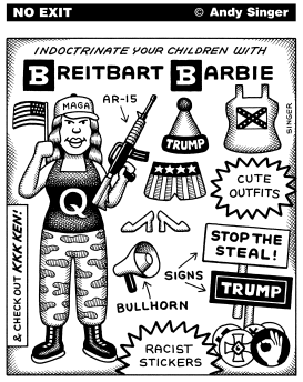 Breitbart Barbie by Andy Singer