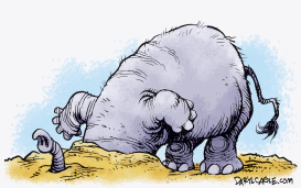 GOP Head in the Sand by Daryl Cagle