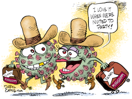 Coronavirus Off to Party by Daryl Cagle