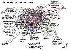 10 years of war in Syria by Stephane Peray