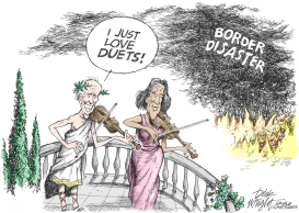 Biden and Kamala Fiddle by Dick Wright