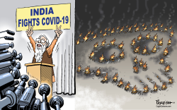 India fights covid19 by Paresh Nath