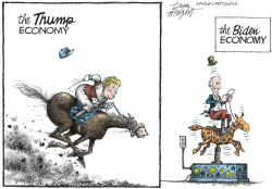Economy Horse Race by Dick Wright