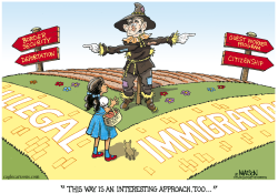 Illegal Immigration Scarecrow- by RJ Matson