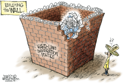 GOP and illegal immigrants -- color by John Cole