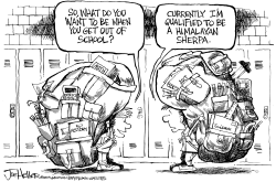 School backpacks by Joe Heller