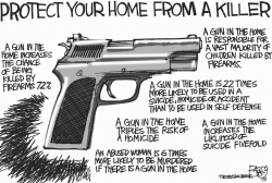 Guns in the Home by Pat Bagley