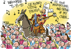 Polygamist Roundup  by Pat Bagley