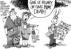 Hillary or Death by Pat Bagley