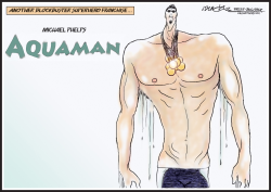 Michael Phelps Aquaman by J.D. Crowe