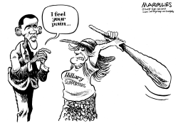 Obama and Hillary supporters by Jimmy Margulies