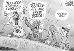 World Series winners BW by John Cole