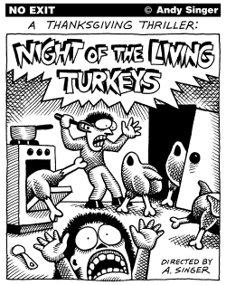 Night of Living Turkeys by Andy Singer