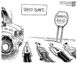 Speed Bumps by Adam Zyglis