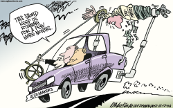 Auto Bailout  by Mike Keefe